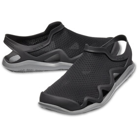 Crocs Swiftwater Mesh Wave Sandaalit Miehet, black/slate grey